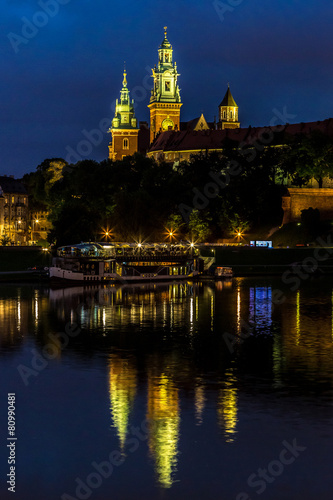 Krakow at night. Wawel Castle #80990481