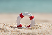 Close-up Of Miniature Lifebuoy