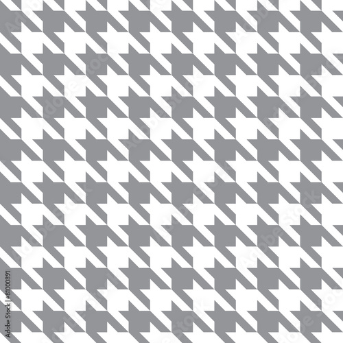 Photo  White & Gray Houndstooth Check Fabric Pattern Texture