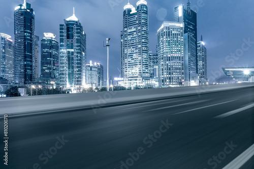 Keuken foto achterwand Nacht snelweg urban road,illuminated skyline background