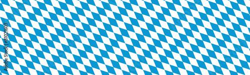 Canvas Print Banner Bayern Rauten