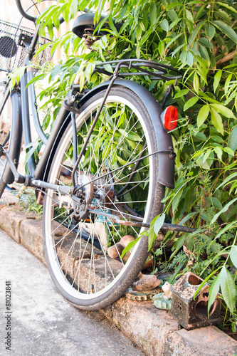 Deurstickers Fiets Vintage stylized photo of Old bicycle