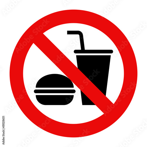 No eating and no drinks allowed Wall mural