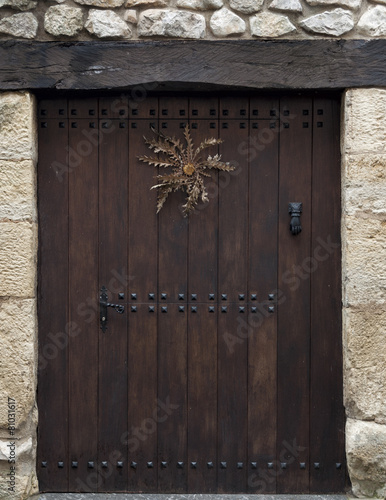 Typical wooden door