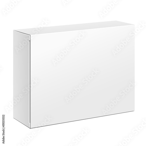 Photographie  Boîte d'emballage en carton blanc
