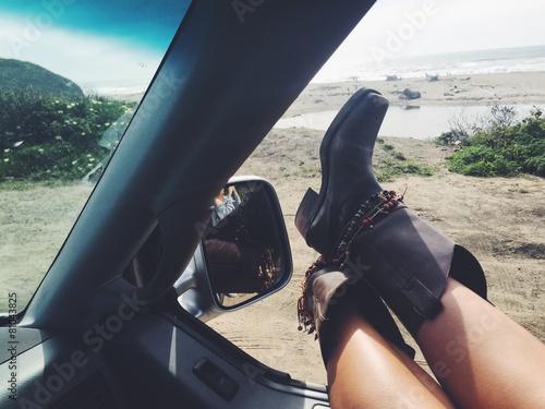 Fotografie, Obraz  road trip on highway 1