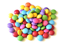 Isolated Colored Smarties On W...