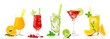 canvas print picture - Tropical cocktail assortments