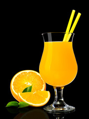 NaklejkaOrange juice on black
