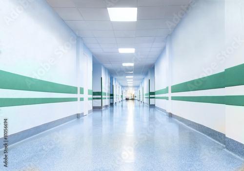Fotografia Long Corridor in Hospital