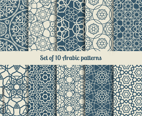 Vector arabic patterns Wallpaper Mural