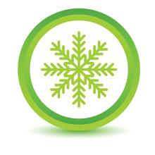 Green Snowflake Icon