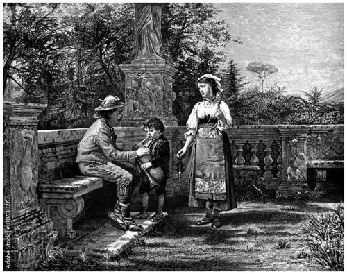 Traditional Italian Family - Toscany - 19th century - Buy