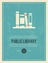 Vintage Poster For Public Library