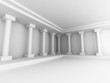 Abstract Interior Background With Columns