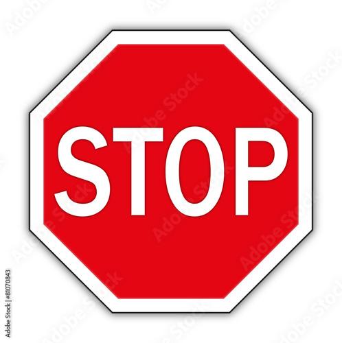 Fotografie, Obraz  stop schild, stop sign