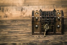 Lock. Closed Decorative Chest ...