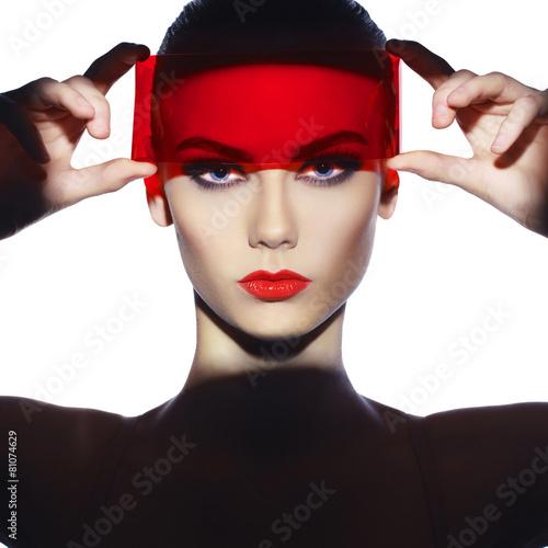 Fototapeten womenART Elegant futuristic lady