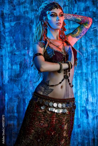Foto op Plexiglas womenART indian dance