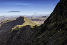 Photo Of The Summit Of Mount Snowdon. National Park Of Snowdonia