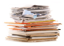 Stack Of Recycling Paper Isola...