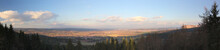 Panoramic View From The Bodesruh Memorial Lookout Tower At The Former Inner-German Border Between Thuringia And Hesse