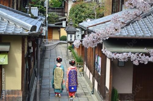 Spoed Foto op Canvas Kyoto 京都東山 石堀小路の風景