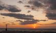 Clouds, sun and sea
