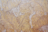 Embossed floral pattern on wallpaper - 81099424