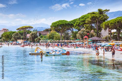 La pose en embrasure Palerme Mondello white sand beach in Palermo, Sicily