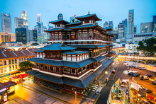 China Town Area In Singapore W...