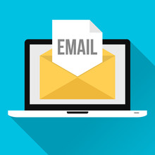 Email Newsletter With Laptop