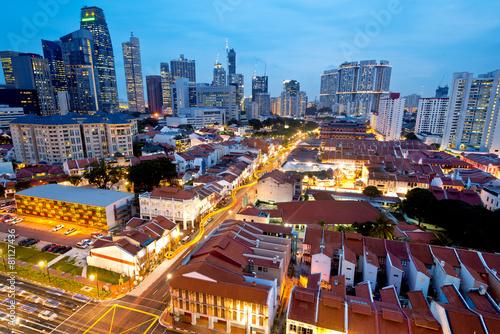 Singapore's  Chinatown at Night.