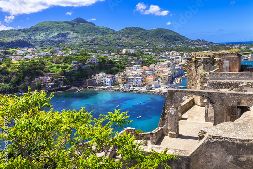 Fotomural  Ischia -view from Arafgonese castle. Italy