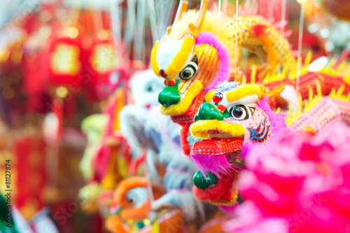 Acrylic Prints Singapore Dragon Puppets in Singapore's Chinatown.