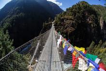 Bridge In Himalayan Mountains