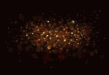 Gold. Glitter Vintage Lights B...