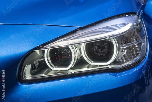 Photo  Close up of modern Car Head light