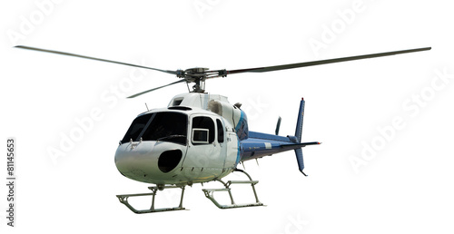 Poster Helicopter Multi-engine helicopter with working propeller