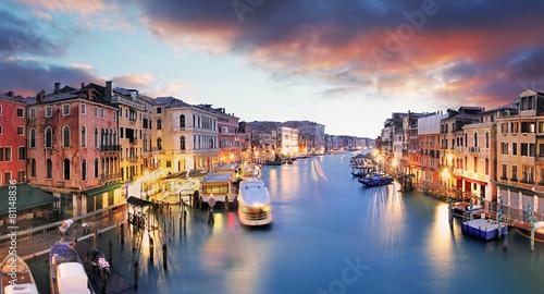 Foto op Canvas Venice Venice - Grand canal from Rialto bridge