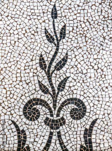starozytna-roslin-mozaiki-plytek-wzorca
