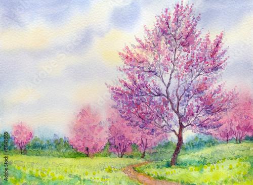 pejzaz-kwitnacych-drzew