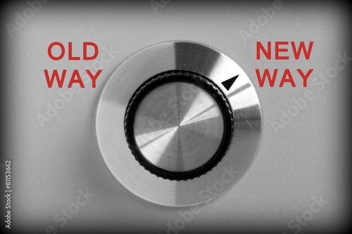 Old Way or New Way Control Switch Canvas-taulu