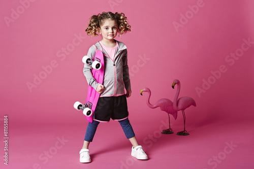 Skater girl with board