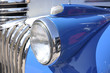 Front headlight on a classic car