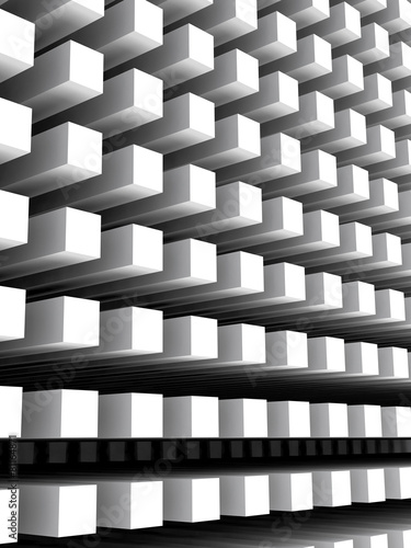 Abstract vertical digital background with white columns array