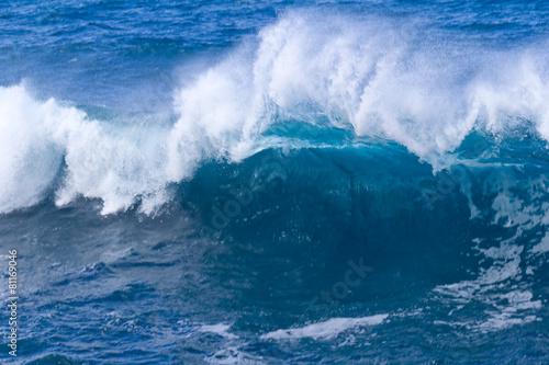 Stickers pour portes Eau vague bleue, océan Indien, île de la Réunion