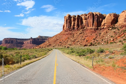Poster Parc Naturel Utah state road to Canyonlands National Park