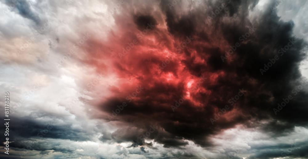 Fototapeta Fantastic sky presages apocalypse
