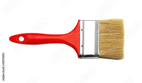 Photo Paint brush on white background